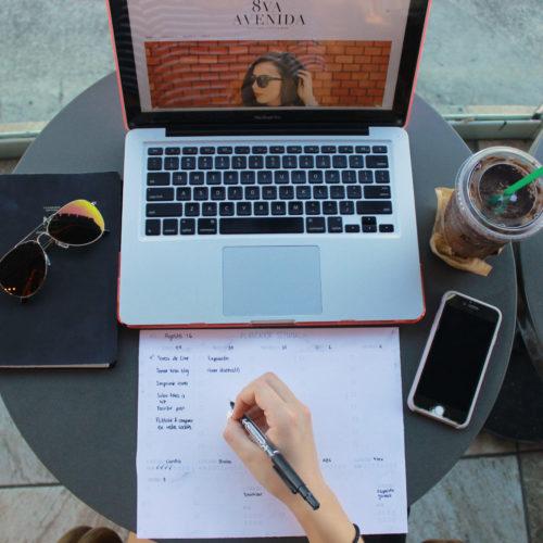 Planeador semanal para ser más productivo.